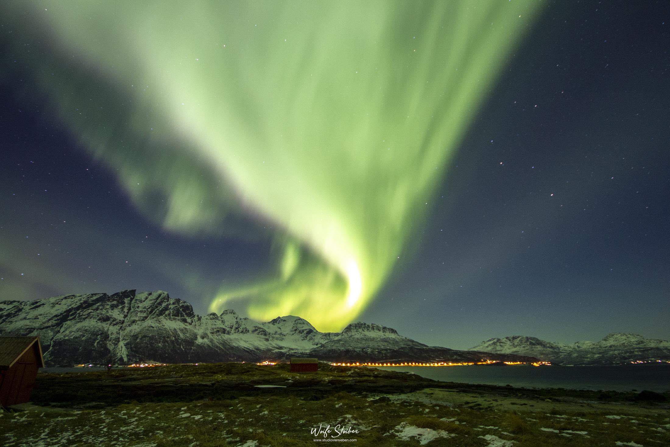 Nordlicht auf Rolla, Norwegen Februar 2014